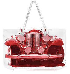 Packard Ask The Man Red Weekender Tote Bag