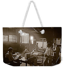 Weekender Tote Bag featuring the photograph Packing Cigars Key West Florida by John Stephens