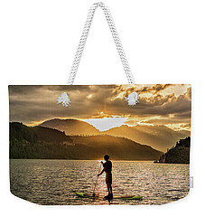 Paddle Boarder In Summit Cove Weekender Tote Bag