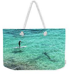 Paddle The Aqua Sea Weekender Tote Bag