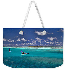 Paddling In Moorea Weekender Tote Bag