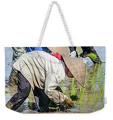 Paddy Field 2 Weekender Tote Bag by Werner Padarin
