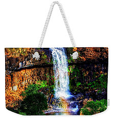 Weekender Tote Bag featuring the photograph Paddy's Falls by Blair Stuart