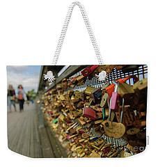 Padlock Bridge Weekender Tote Bag