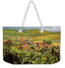 Paesaggio Toscano Weekender Tote Bag by Guido Borelli
