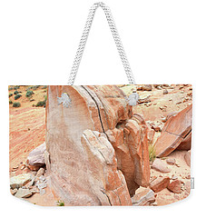 Weekender Tote Bag featuring the photograph Pages Of Stone In Valley Of Fire by Ray Mathis