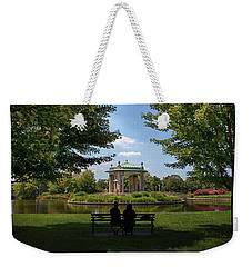 Weekender Tote Bag featuring the photograph Pagoda Circle Interlude by Susan Rissi Tregoning