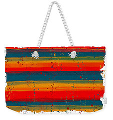 Weekender Tote Bag featuring the painting Paint It Serape by Barbara Chichester