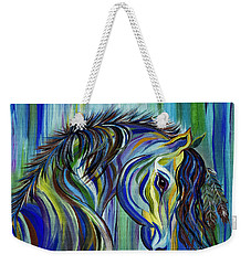 Paint Native American Horse Weekender Tote Bag by Janice Rae Pariza