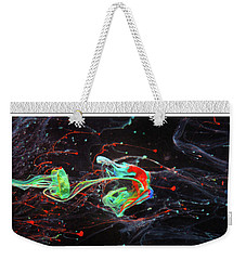 Paint Pouring Collection Weekender Tote Bag by Modern Art Prints
