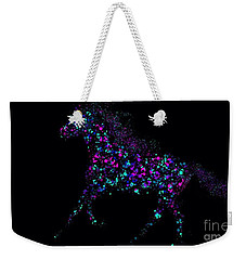 Weekender Tote Bag featuring the painting Paint Splattered Pony by Nick Gustafson