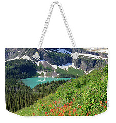 Paintbrush Above Grinnell Lake Weekender Tote Bag