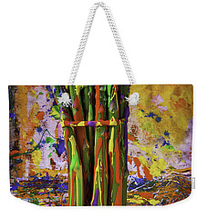 Painted Asparagus Weekender Tote Bag