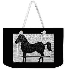 Weekender Tote Bag featuring the photograph Painted Black - Stone Pony by Colleen Kammerer