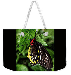 Painted Butterfly Weekender Tote Bag