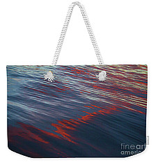 Painted By Nature - Water On The Flight Through The Fiery Skies Weekender Tote Bag