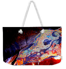 Painted Cave Skull Weekender Tote Bag