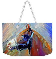Painted Color Horse Weekender Tote Bag