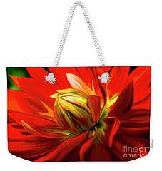 Painted Dahlia In Full Bloom Weekender Tote Bag