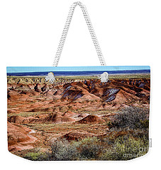 Painted Desert In Winter Weekender Tote Bag