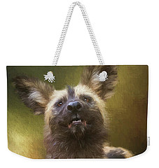 Painted Dog Portrait Weekender Tote Bag