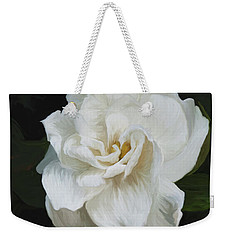 Weekender Tote Bag featuring the photograph Painted Gardenia by Phyllis Denton