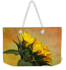 Painted Golden Beauty Weekender Tote Bag by Judy Vincent
