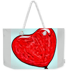 Painted Heart Weekender Tote Bag