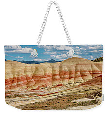 Weekender Tote Bag featuring the photograph Painted Hills And Afternoon Sky by Greg Nyquist