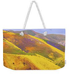 Weekender Tote Bag featuring the photograph Painted Hills by Marc Crumpler