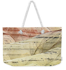 Weekender Tote Bag featuring the photograph Painted Hills Ridge by Greg Nyquist