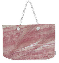 Weekender Tote Bag featuring the photograph Painted Hills Textures 1 by Leland D Howard
