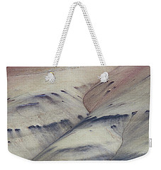 Weekender Tote Bag featuring the photograph Painted Hills Textures 2 by Leland D Howard