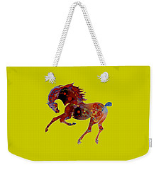 Painted Horse 3 Weekender Tote Bag by Mary Armstrong