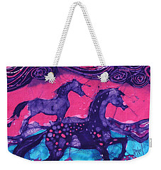 Painted Horses Below The Wind Weekender Tote Bag