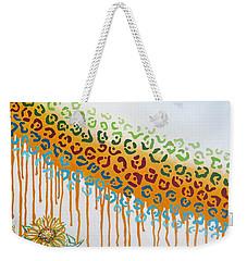 Painted Jaguar Weekender Tote Bag