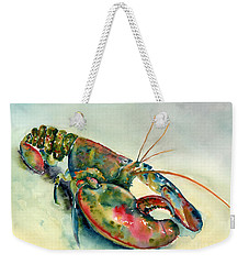 Painted Lobster Weekender Tote Bag