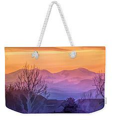 Painted Mountains Weekender Tote Bag