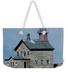 Painted Northwest Block Island Lighthouse Weekender Tote Bag
