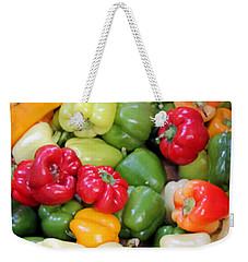Painted Peppers Weekender Tote Bag by Kristin Elmquist