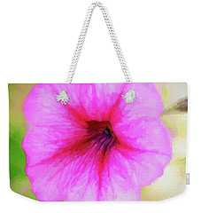 Weekender Tote Bag featuring the photograph Painted Petunia 344 by Ericamaxine Price