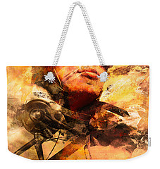 Weekender Tote Bag featuring the photograph Painted Pilots At War by Jorgo Photography - Wall Art Gallery