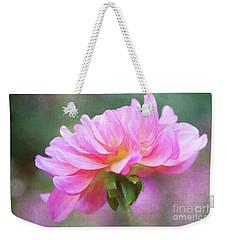 Painted Pink Dahlia Weekender Tote Bag