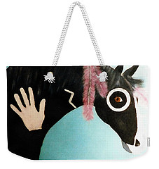 Painted Pony With Feather Weekender Tote Bag by Joseph Frank Baraba