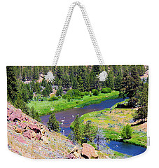 Weekender Tote Bag featuring the photograph Painted River by Jonny D