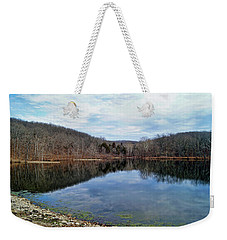 Weekender Tote Bag featuring the photograph Painted Rock Conservation Area by Cricket Hackmann
