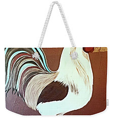 Painted Rooster Weekender Tote Bag