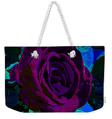 Painted Rose Weekender Tote Bag by Samantha Thome
