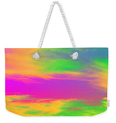Weekender Tote Bag featuring the photograph Painted Sky by Linda Hollis