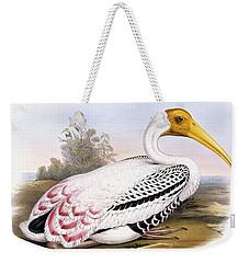 Painted Stork Weekender Tote Bag